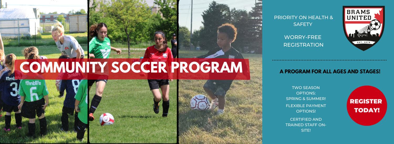 Community Soccer Web Banner